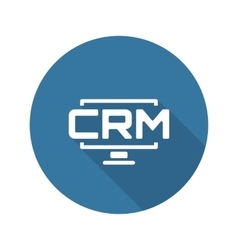 Desktop CRM System Icon Flat Design vector image