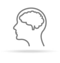 human brain neurology icon in trendy thin line vector image