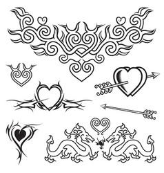 love tattoo vector image vector image