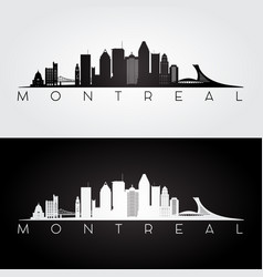 montreal skyline silhouette vector image