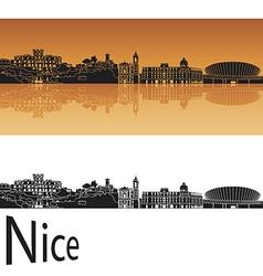 Nice skyline in orange background vector image vector image