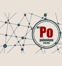 polonium chemical element vector image vector image
