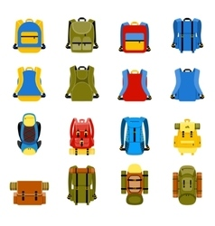 Travel backpack camping rucksack and school bag vector image vector image