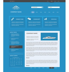 blue website template vector image