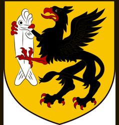 coat of arms of szczecinek in west pomeranian vector image vector image