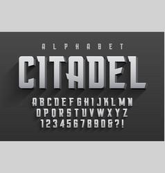 condensed original display font design vector image vector image