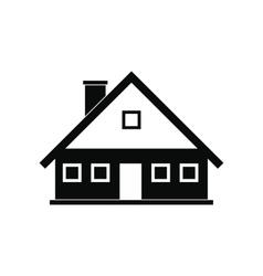 Cottage black simple icon vector image vector image