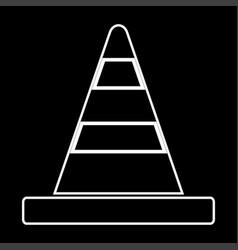 road cone it is icon vector image vector image
