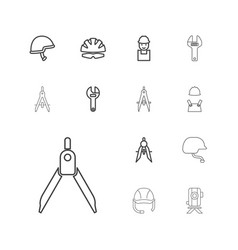 13 engineer icons vector