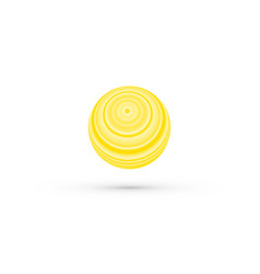 abstract yellow striped ball vector image