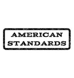 american standards watermark stamp vector image