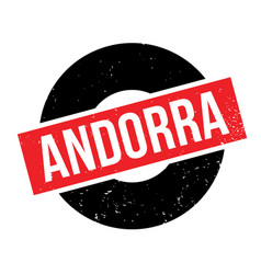 Andorra rubber stamp vector