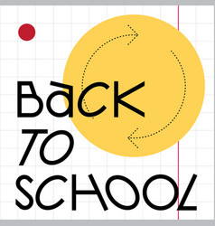 back to school web template vector image