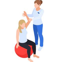 Ball hand rehabilitation composition vector