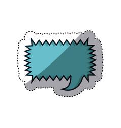 Blue sticker rectangle callout scream for dialogue vector