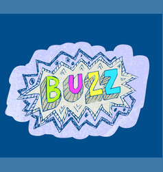 Buzz popart sticker vector