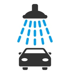Car Shower Flat Icon vector image