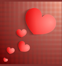 card with red heart and pattern vector image