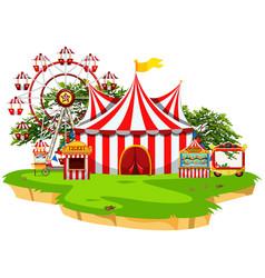 Carnival fun fair scene vector