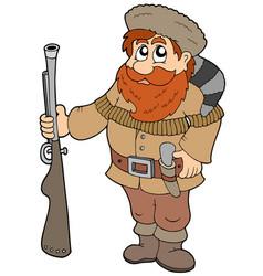 Cartoon trapper vector