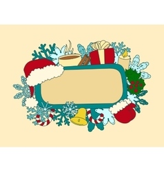 Christmas symbols design element vector image
