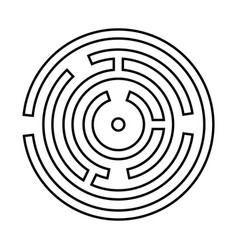 circle maze or labyrinth it is black icon vector image