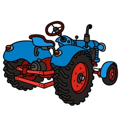 Classic blue tractor vector