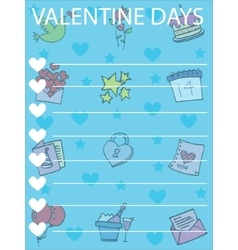 Collection greeting card valentine day vector