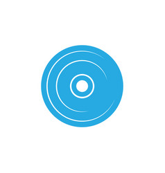 compact disc icon template isolated vector image