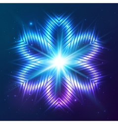 Cosmic shining abstract flower vector image