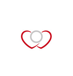 Creative hearts ring logo vector
