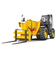 Detailed ial image of modern yellow telescopic loa vector
