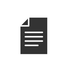 document black icon vector image