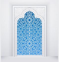 Door or window mosque geometric pattern vector