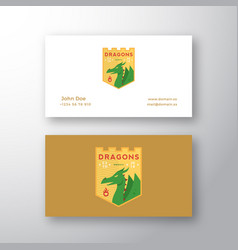 Dragons medieval sports team emblem abstract vector