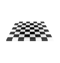 empty chess board in black and white design vector image