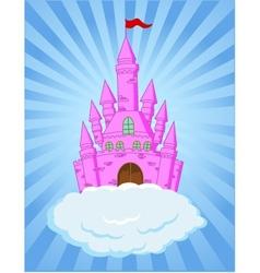 fairy castle cartoon vector image