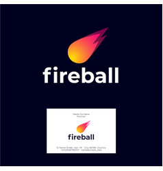 Fireball logo and letters icon vector