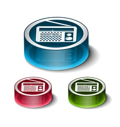FM radio web icons vector image