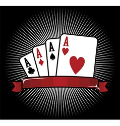 Four Aces Poker icon vector image