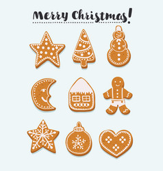 Gingerbread set vector