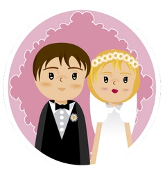 grooms and wedding 2 vector image vector image