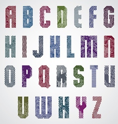 Grunge colorful rubbed upper case letters vector