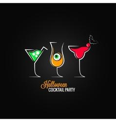 Halloween party cocktails menu design background vector