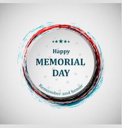 happy memorial day memorial day badge concept vector image