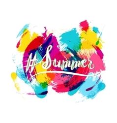 Hashtag Summer Lettering vector