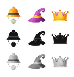 Headwear and cap sign vector