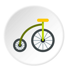 Highwheel bike icon circle vector