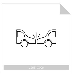 Icon crash cars isolated on white background flat vector