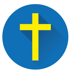 Icon cross jesus vector